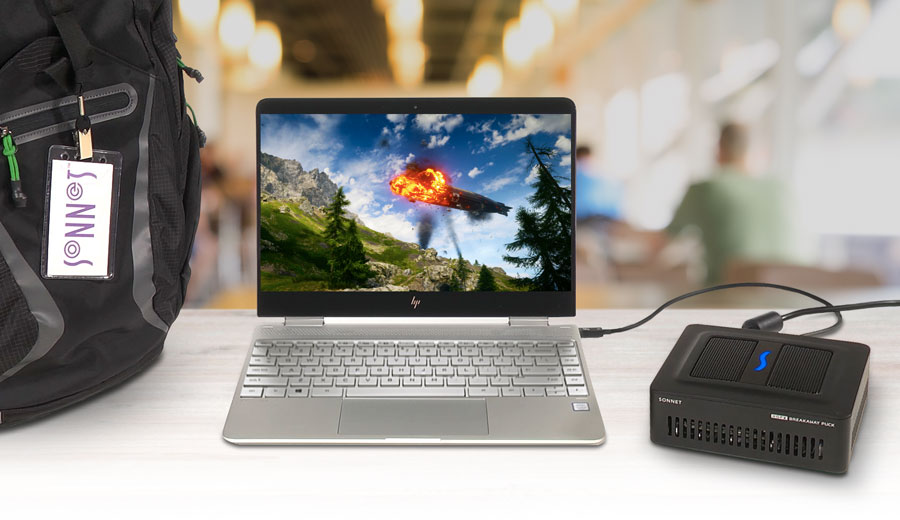 Meet the eGFX Breakaway Box, a tiny eGPU for ultrabooks